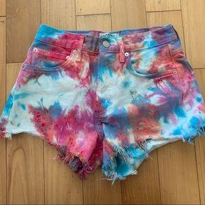 Tie Dye AGOLDE Parker Shorts